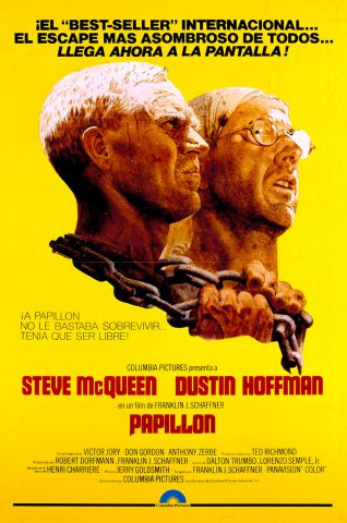 Papillon 1975 Filmposter