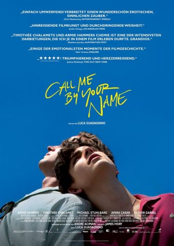 Call Me By Your Name 2017 Filmposter
