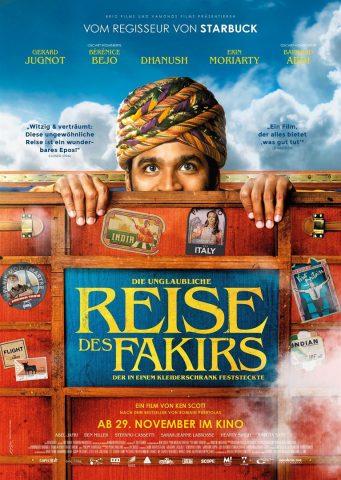 Die unglaubliche Reise des Fakirs, der in einem Kleiderschrank feststeckte - 2018 Filmposter