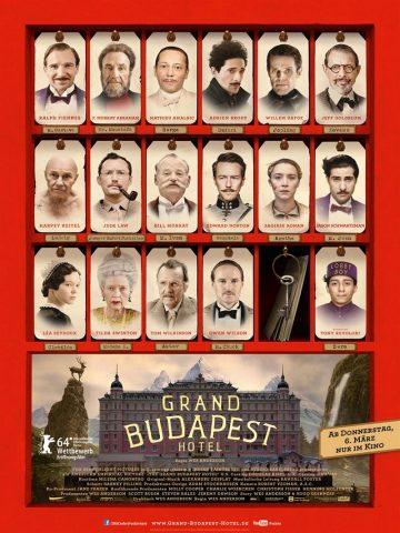 Grand Budapest Hotel - 2013 Filmposter
