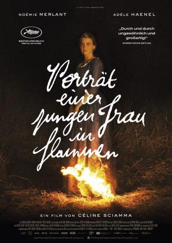 Porträt einer jungen Frau in Flammen - 2018 Filmposter