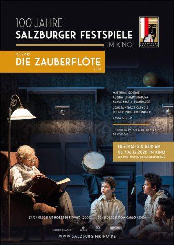 Die Zauberflöte/ salzburger Festspiele 20/21- 2018 poster