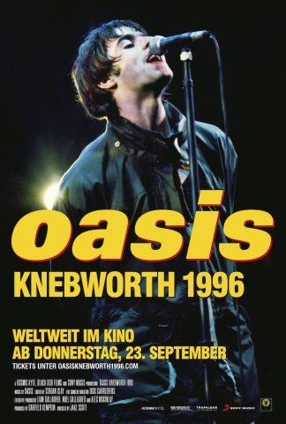 Oasis Knebworth 1996 -2021 poster